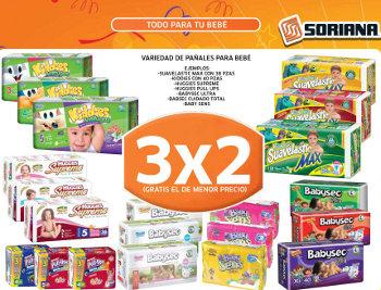 Mercado Soriana: Todos los Pañales al 3×2 | Oferta Descuentos