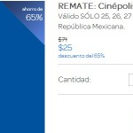 Clickonero Cinepolis Boletos