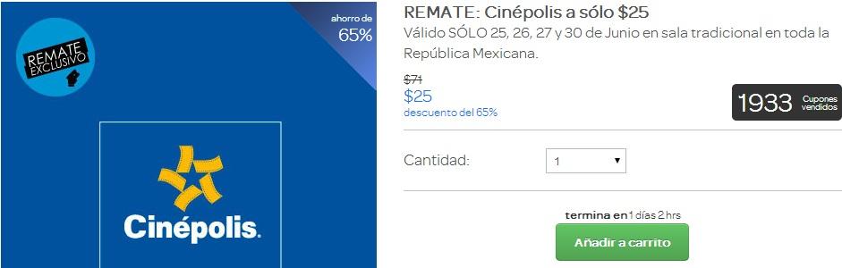 Clickonero: Boletos para Cinépolis a $25