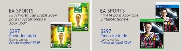 Costco: FIFA World Cup Brazil 2014 para Xbox One, PS3 y PS4 a $297