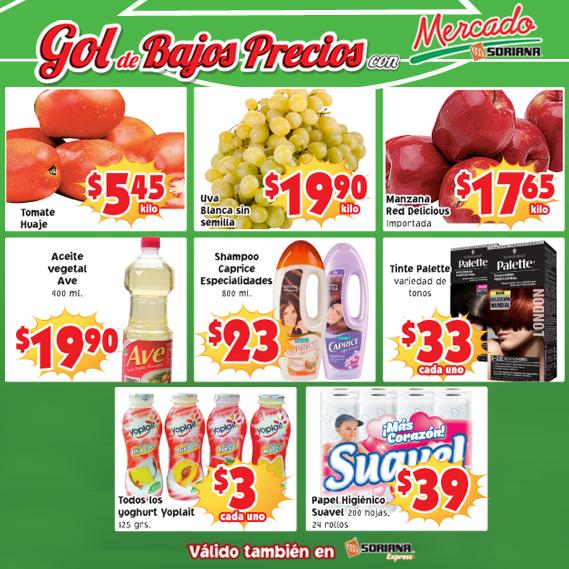 Soriana: Martes de Frutas y Verduras 24 y 25 de Junio