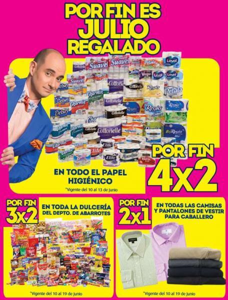La Comer: Julio regalado papel higienico 4×2, dulceria 3×2 y más