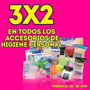 Julio Regalado: 3×2 en todos los accesorios de higiene personal