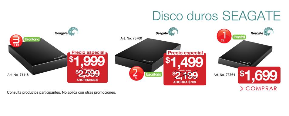 OfficeMax: Discos Duros externos Seagate 1 TB a $1,700