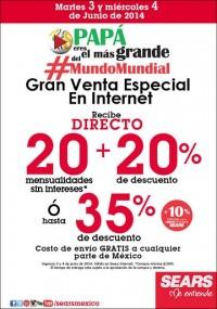 Sears: Venta especial en internet hasta 35% de descuento con envio gratis