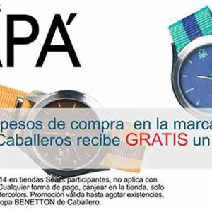 Sears: Reloj gratis con valor de 750 pesos