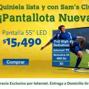 Sams: Pantalla LED 55 pulgadas 15,490, Pantalla 4K Samsung de 40 13,999