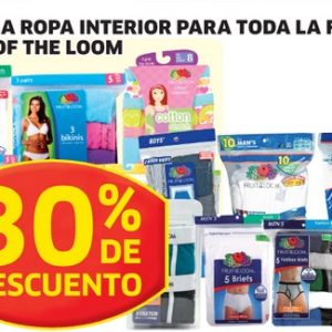Soriana Hiper: ropa interior de marca Fruit of the Loom con 30% de descuento