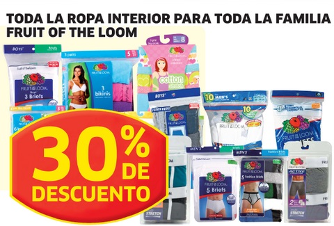 soriana hiper ropa interior de marca fruit of the loom
