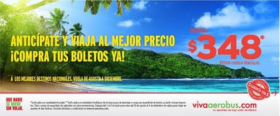 VivaAerobus: Vuelos desde 348 pesos