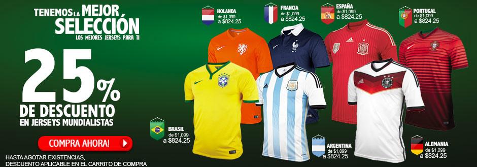 Dportenis: 25% de descuento en jerseys del mundial