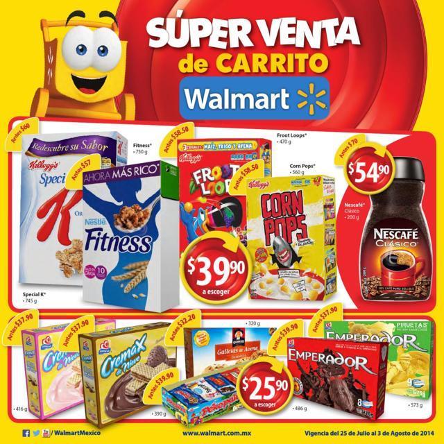 Walmart folleto promocional 25 julio al 3 de agosto - Hogarium catalogo de ofertas ...