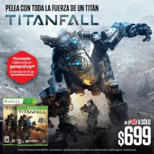 Gamers: Titan Fall $699 y Bundle Bioshock $499