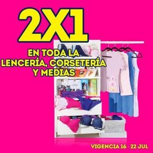 Julio Regalado: 2×1 en toda la Lencería, Corsetería y Medias