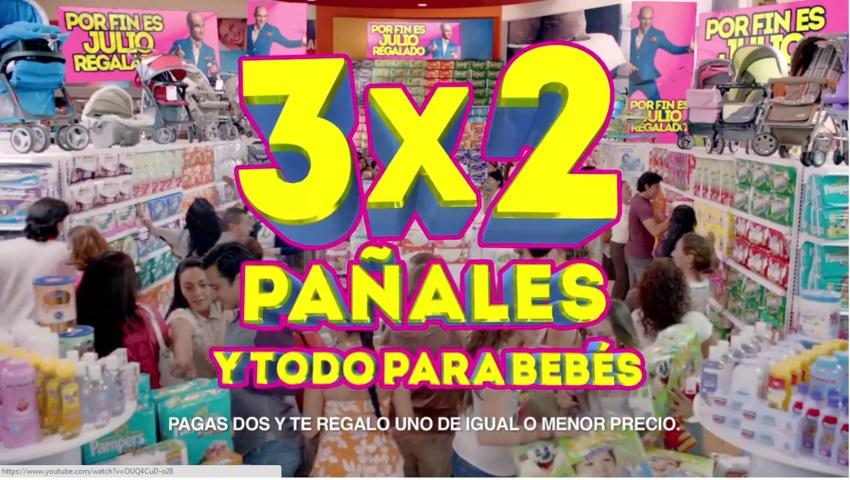 Julio Regalado: Todos los Pañales al 3×2 y Todo para bebé