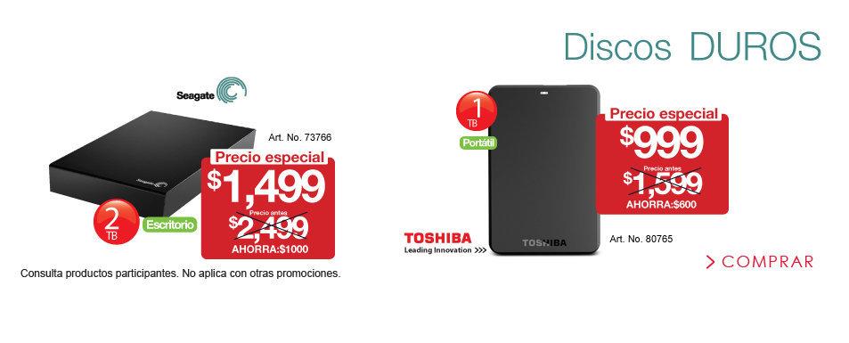 OfficeMax: Disco Duro Toshiba 1TB a $999 y otros