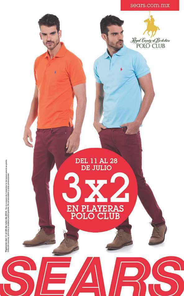 087bc8c62f410 Sears  Playeras Polo Club al 3×2
