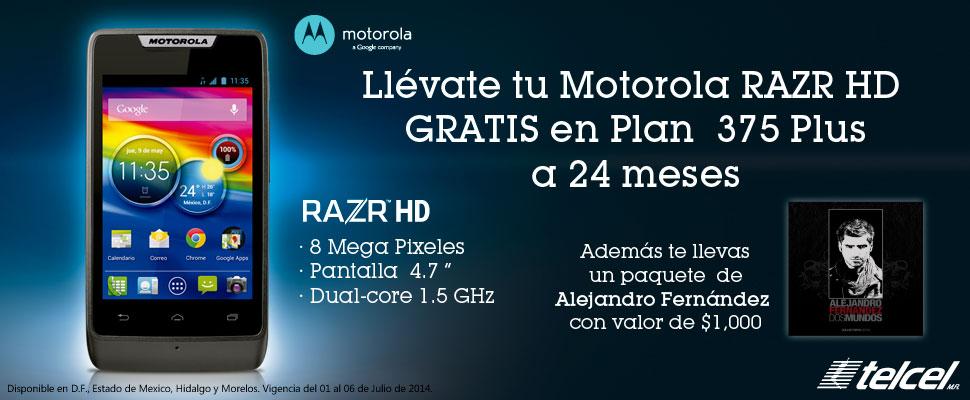 Sears: Motorola RAZR HD Gratis en Plan 375 Plus