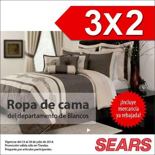 Sears: Ropa de Cama al 3×2