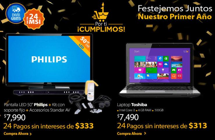 Walmart: Pantalla LED 50″ Philips más Soporte a $7,990