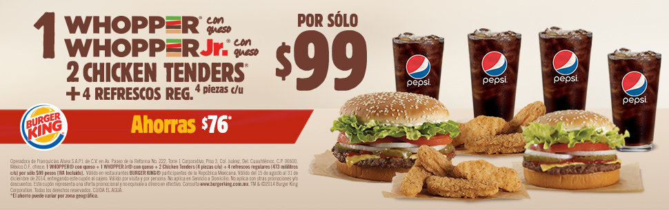 TM & © Burger King Corporation. Todos los derechos reservados. Volver Arriba. Language switcher.