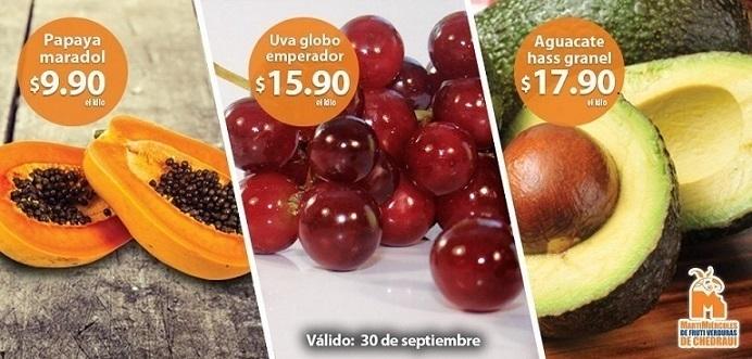Chedraui: Martes y Miércoles de Frutas y Verduras 30 de Septiembre y 1 de Octubre 2014