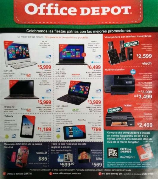 Office Depot: Folleto de ofertas de Septiembre