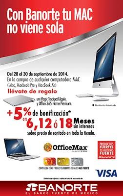 OfficeMax: Magic Touch Pad y Office 365 gratis en la compra de cualquier Mac