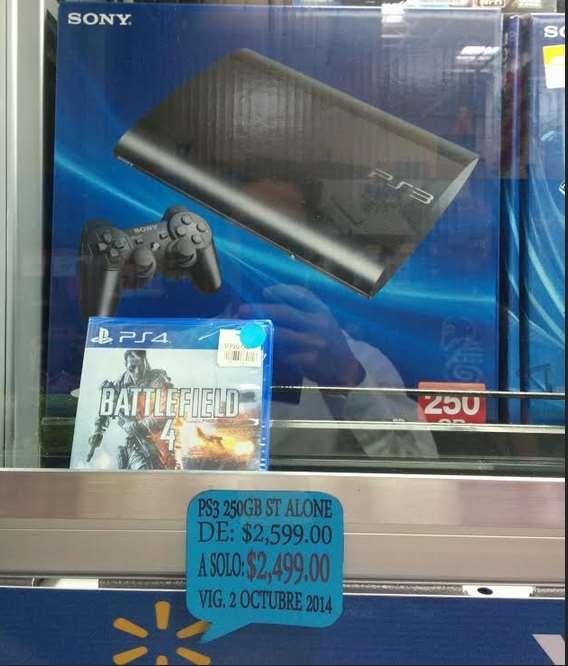 Walmart: PS3 Slim 250 GB a $2,499