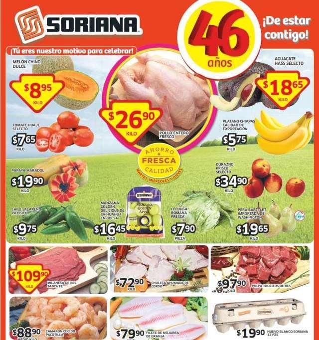 Soriana: Frutas y Verduras del 30 de Septiembre al 2 de Octubre 2014