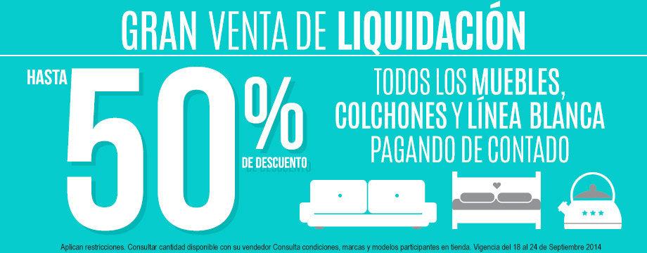 Viana: Gran Venta de Liquidación hasta 50% de descuento en mubles