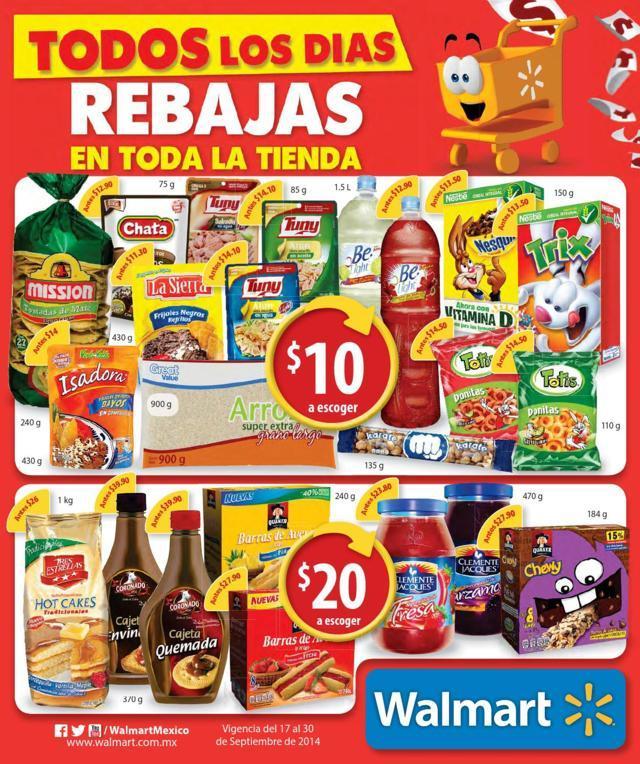 Walmart: Folleto de promociones del 17 al 30 de Septiembre