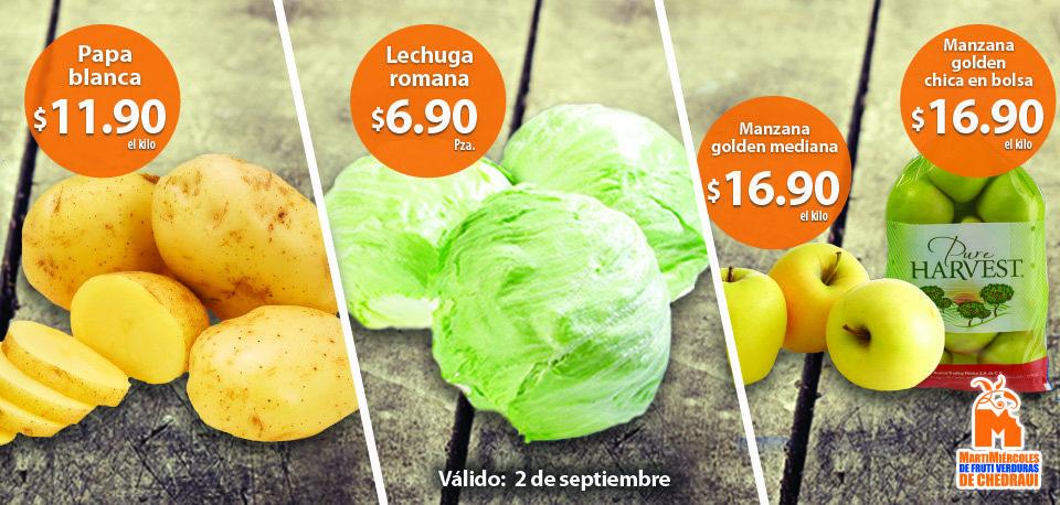 Chedraui: Martes y Miércoles de Frutas y Verduras 2 y 3 de Septiembre