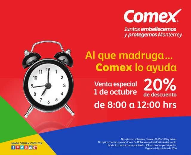 Comex: Venta especial 1 de Octubre hasta 20% de descuento en tienda