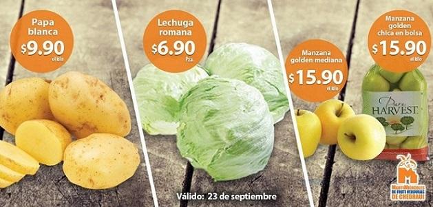 Chedraui: Martes y Miércoles de frutas y verduras 23 y 24 de Septiembre