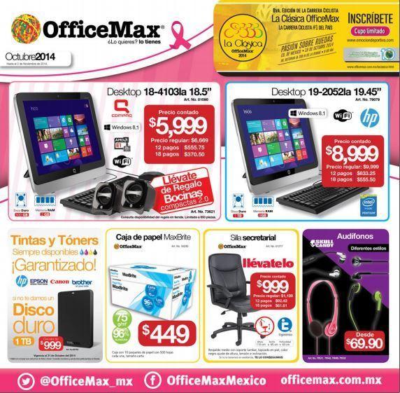 OfficeMax: Folleto de Promociones de Octubre