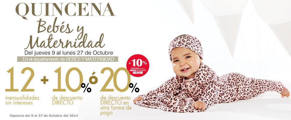 f4a12e95a Sears  Quincena Bebés y Maternidad del 9 al 27 de Octubre