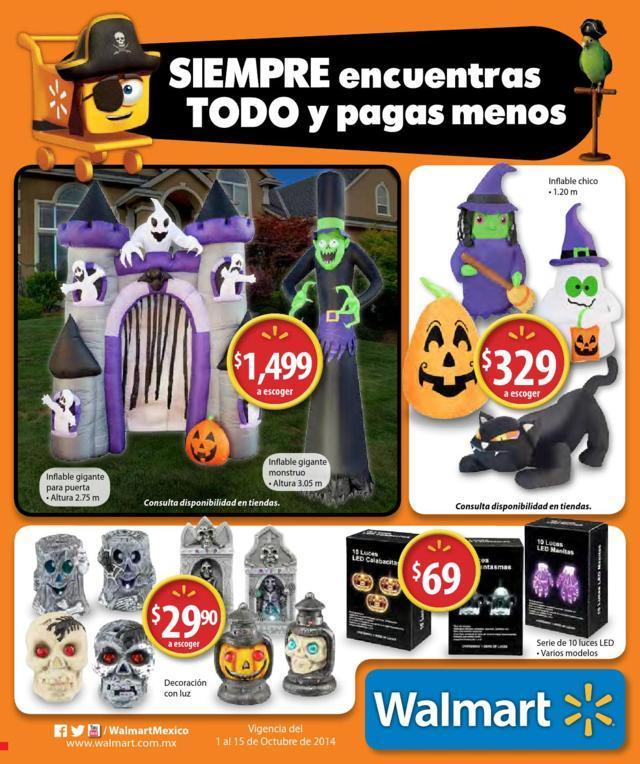 Walmart: Folleto de Promociones del 1 al 15 de Octubre