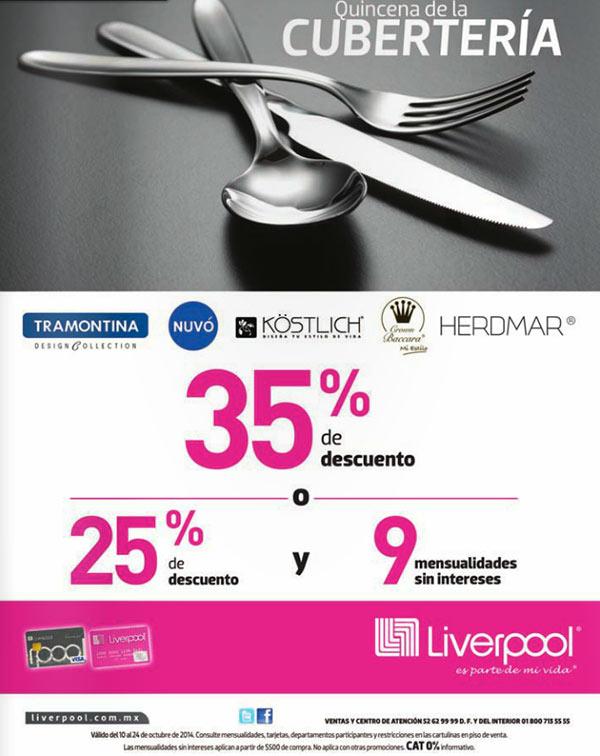 Liverpool: Quincena de Cubertería hasta 35% de descuento