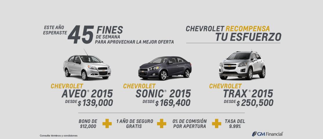 El Buen Fin 2014 – Chevrolet: Aveo desde $139,000 y más | Oferta Descuentos