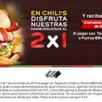 Chilis 2x1 en hamburguesas hasta el 7 de noviembre