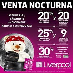 Liverpool: Venta Nocturna 12 y 13 de Diciembre 2014