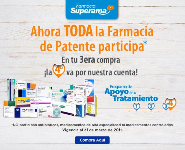 Superama: Toda la farmacia de patente al 4×3 | Oferta