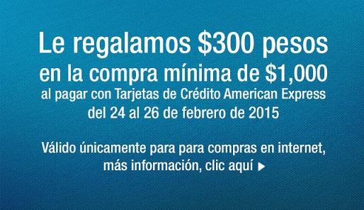 Costco: Cupón de $300 por $1000 de compra con Tarjeta American Express