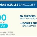 Dias azules bancomer usando cupon en lineo