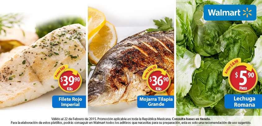 Walmart: Cuaresma Filete Rojo $39.90, Mojarra Grande $36.90 y más