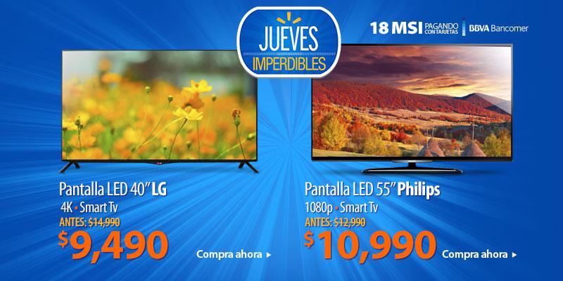 Walmart: Pantalla LED 40″ 4K a $9,490