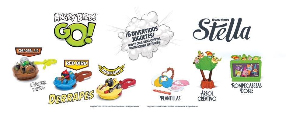 Burger King: Juguete gratis Angry Birds al comprar combo kids
