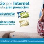 sams descuento de 100 pesos al hacerte socio por internet