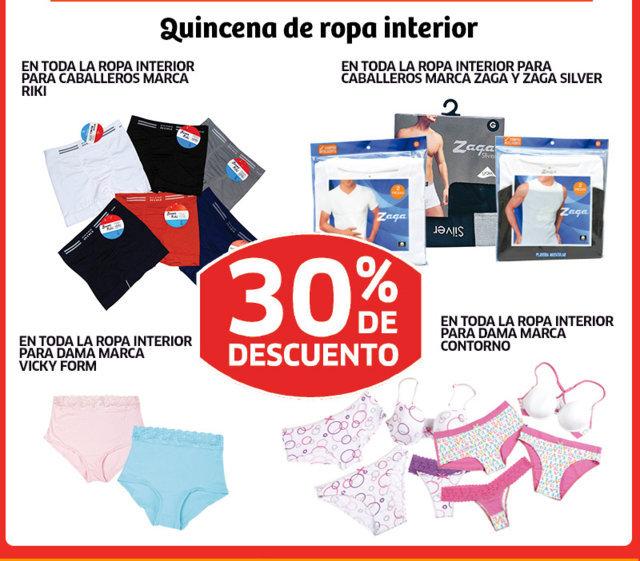 Soriana 30 de descuento en ropa interior para caballero for Marcas de ropa interior